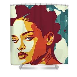 Rihanna Shower Curtain by Greatom London
