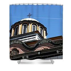 Shower Curtain featuring the photograph Rila Monastery Photograph by Milena Ilieva