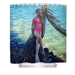 Riley In Hawaii Shower Curtain