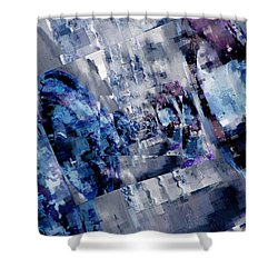 Rim Shots Shower Curtain