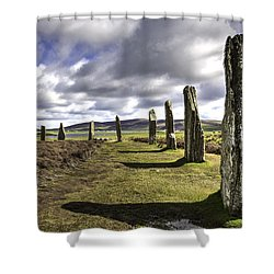 Ring Of Brodgar Shower Curtain
