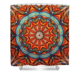 Ring Of Fire Shower Curtain by Mo T