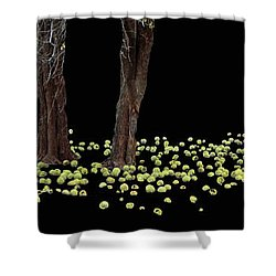 Ring Of Green  Shower Curtain