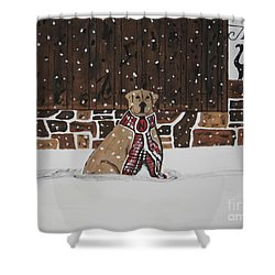Shower Curtain featuring the painting Ring The Dinner Bell by Jeffrey Koss