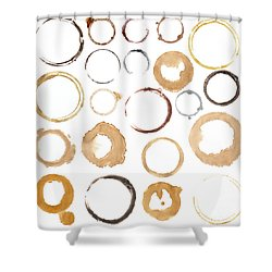 Rings From Cups And Mugs Shower Curtain