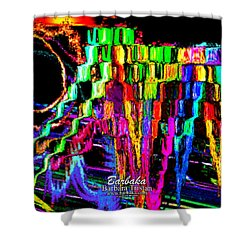 Shower Curtain featuring the photograph Rings Of Fire by Barbara Tristan