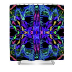 Rings Of Fire Dopamine #156 Shower Curtain by Barbara Tristan