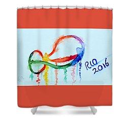 Rio 2016 Shower Curtain by Warren Thompson