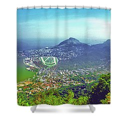 Rio De Janeiro Brazil Panorama Shower Curtain