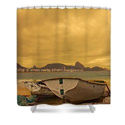 Shower Curtain featuring the photograph Rio Fishing Boats by Kim Wilson