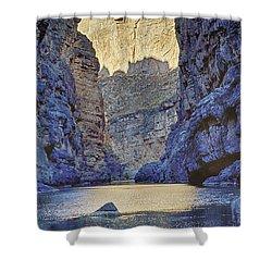 Rio Grand, Santa Elena Canyon Texas 2 Shower Curtain