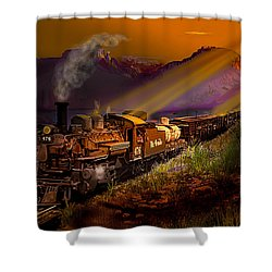 Rio Grande Early Morning Gold Shower Curtain by J Griff Griffin