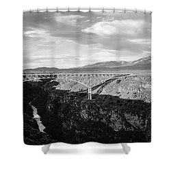 Shower Curtain featuring the photograph Rio Grande Gorge Birdge by Marilyn Hunt