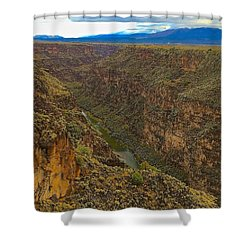 Rio Grande Gorge Just After Dawn Shower Curtain