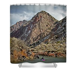 Rio Grande Racecourse In Winter Shower Curtain