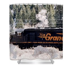 Rio Grande Train In Colorado Shower Curtain