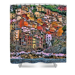 Shower Curtain featuring the photograph Riomaggiore by Allen Beatty