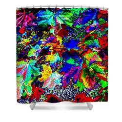 Riot Of Color Shower Curtain by Will Borden