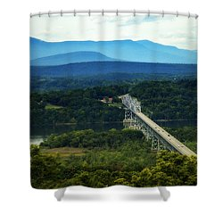 Rip Van Winkle Bridge Shower Curtain