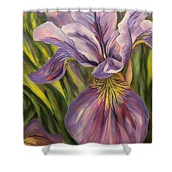 Ripe Iris Shower Curtain by Trina Teele