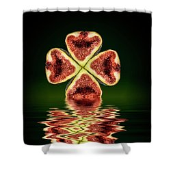 Shower Curtain featuring the photograph Ripe Juicy Figs Fruit by David French