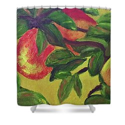 Ripe Pears On The Tree Shower Curtain