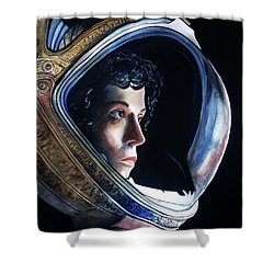 Ripley Shower Curtain by Tom Carlton