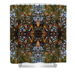 Ripple And Leaf Shower Curtain