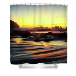 Ripple Effect Beach Image Art Shower Curtain
