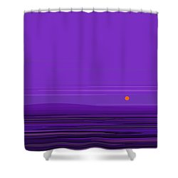 Shower Curtain featuring the digital art Ripple -twilight Purple by Val Arie
