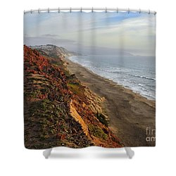 Rippled By Wind And Water Shower Curtain by Scott Cameron