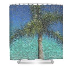 Rippled Palm Shower Curtain