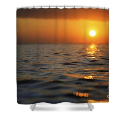 Rippled Sunset Shower Curtain by Brandon Tabiolo - Printscapes