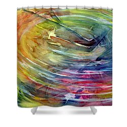 Shower Curtain featuring the painting Ripples by Allison Ashton