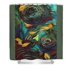 Ripples In Time Shower Curtain