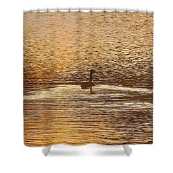 Copper  Shower Curtain