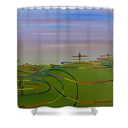 Ripples Of Life 1.2 Shower Curtain by Tim Mullaney