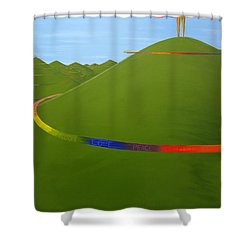 Ripples Of Life 1.4 Shower Curtain