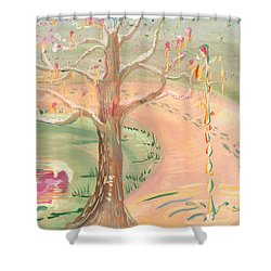 Ripples Of Spring Shower Curtain