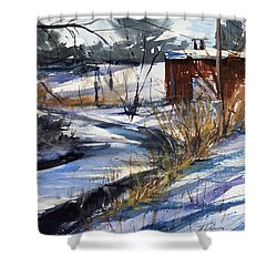 Rippleton Road River Shower Curtain by Judith Levins
