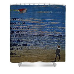 Rise Against The Wind Shower Curtain by Ian  MacDonald
