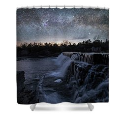 Shower Curtain featuring the photograph Rise And Fall by Aaron J Groen