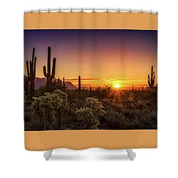 Shower Curtain featuring the photograph Rise And Shine Arizona  by Saija Lehtonen
