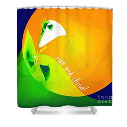 Shower Curtain featuring the digital art Rise And Shine by Methune Hively