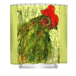 Shower Curtain featuring the drawing Rise And Shine  by P J Lewis