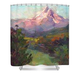 Rise And Shine Shower Curtain by Talya Johnson
