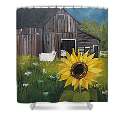 Rise And Shine Shower Curtain by Virginia Coyle