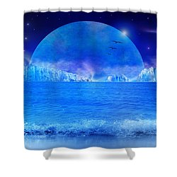 Shower Curtain featuring the digital art Rise by Bernd Hau