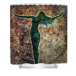 Rise Of The Divine Feminine Shower Curtain by Jaison Cianelli