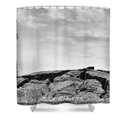 Shower Curtain featuring the photograph Rise by Ryan Manuel